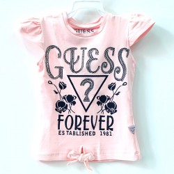 S135-Guess Logo with ribbon Light Pink