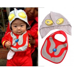 A273001- Ultraman bib + Hat 2 in 1