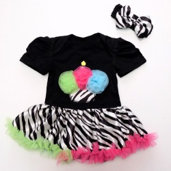 R555 - Cute Little Cupcake Romper Set (Black)