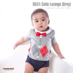 R531 - PLUS SIZE Cutie Lozenge (GREY)