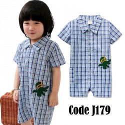 J179-Checkered Jumper (BLUE)
