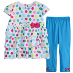 D307 - Colorful PolkaDot Legging Dress