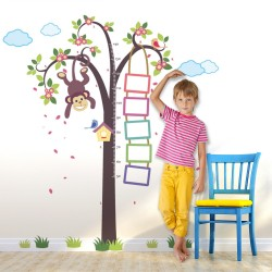 WS9041 - WALPLUS Monkey Tree Height Grow Chart ( XXL Series )