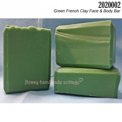 2020002 - Green French Clay Face & Body Bar