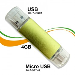 A432 - 4GB OTG  USB 2.0 Dual Flash Drive PC/Mobile DataTraveler