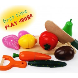 T227 - Magnetic Fruit And Vegetables Set (Wooden Box)