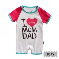 J079 - I love mom dad pink