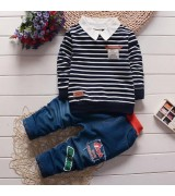 M181 - LONG SLEEVES STRIPE WITH PANTS SET