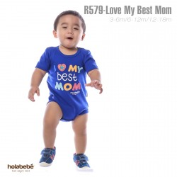 R579-Love My Best Mom Holabebe Romper