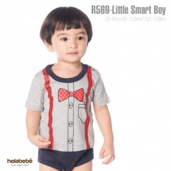 R569-Little Smart boy Holabebe Romper