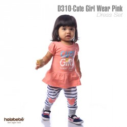 D310 - Cute Wear Pink Holabebe Dress Legging