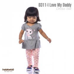 D311 - I Love My Daddy Holabebe Dress Legging