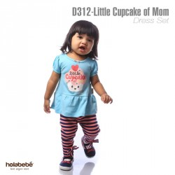 D312-Little Cupcake Of Mom Holabebe Dress Legging