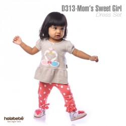 D313-Mom' Sweet Girl Holabebe Dress Legging