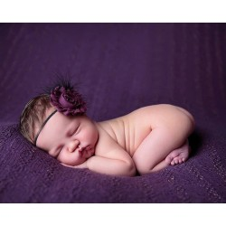 A484 - Flower headband purple