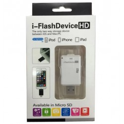 i-Flash Drive HD Card Reader For iPhone/iPad/iPod - White ( Micro SD)