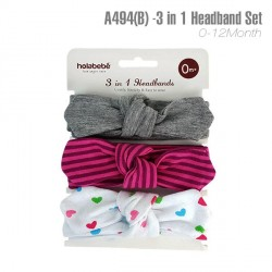 A494(B) - 3 In 1 Headband Set
