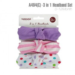 A494(C) - 3 In 1 Headband Set