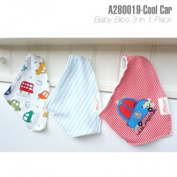 A280019-Baby Bibs 3in1- Cool Car
