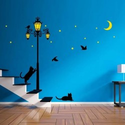 WS6026-Walplus Street Light Grow in The Dark Wall Sticker (L Series)