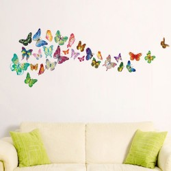 WS3013-34pcs Colourful Butterflies (S series)