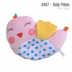 A497-Baby Pillow -Pink Bird