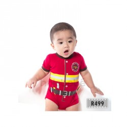 R499-Little Fire Man Holabebe Romper