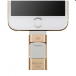 64GB Metal USB 3 in 1Flash Drive