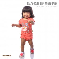 R572-Cute Girl Wear Pink Holabebe Romper