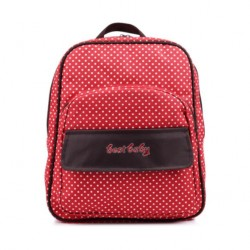4110170 Multifunction Mommy Backpack Dots Red