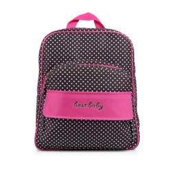 4110171 Multifunction Mommy Backpack Dots Pink