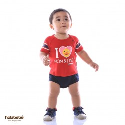 R583-I Love Mom & Dad Holabebe Romper
