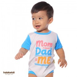 Mom Love Dad ME Holabebe Romper
