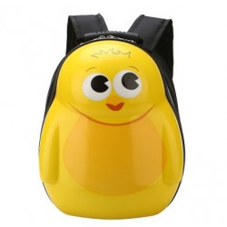 Hardcover backpack yellow penguin
