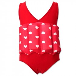 Floating swim suit red love