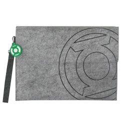 ECO-Super Hero Unisex Felt Document Clutch Bag_green lantern
