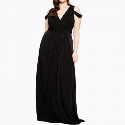 High Quality Plus Size Dinner Dress Black
