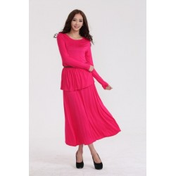 CJB010-Peplum Jubah Dress FREE Belt
