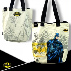 DC Comics Justice League Super Heroes - ECO-Super Hero 2in1 Canvas Sling Tote Bag - Batman