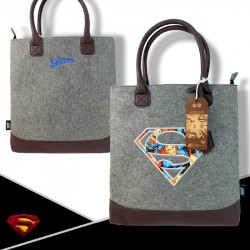 ORIGINAL Felt Carrier Bag - Superman