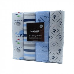 Blanket 4IN1 Pack (blue whale)