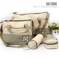 5 IN 1 MULTI FUNCTION MUMMY BAG: KHAKIS