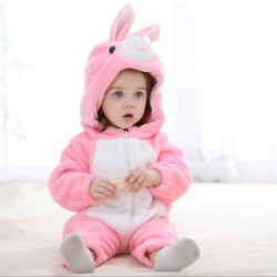 High Quality Animal Baby Romper (pink rabbit)