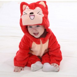 High Quality Animal Baby Romper (red fox)