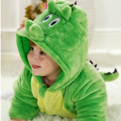 High Quality Animal Baby Romper (green dino)