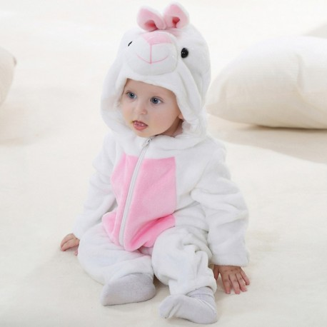 Costume Romper white rabbit