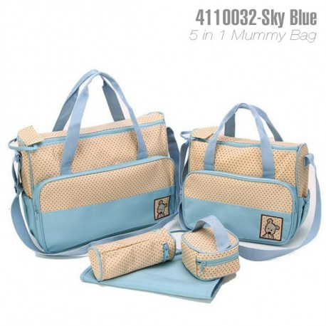 5 IN 1 MULTI FUNCTION MUMMY BAG: L/ BLUE