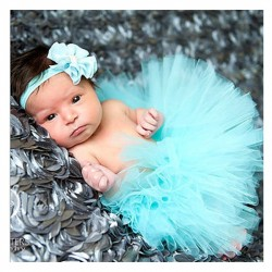 Baby girl tutu set (light blue)