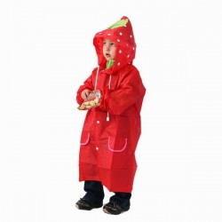 Kids Rain Coat: Strawberry