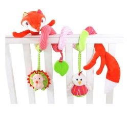 Baby bed toys-red fox